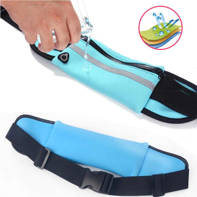 مقاوم للماء تشغيل الخصر حقيبة قماش الرياضة الركض المحمولة في الهواء الطلق حامل هاتف حقيبة بحزام النساء الرجال اللياقة البدنية الرياضة اكسسوارات