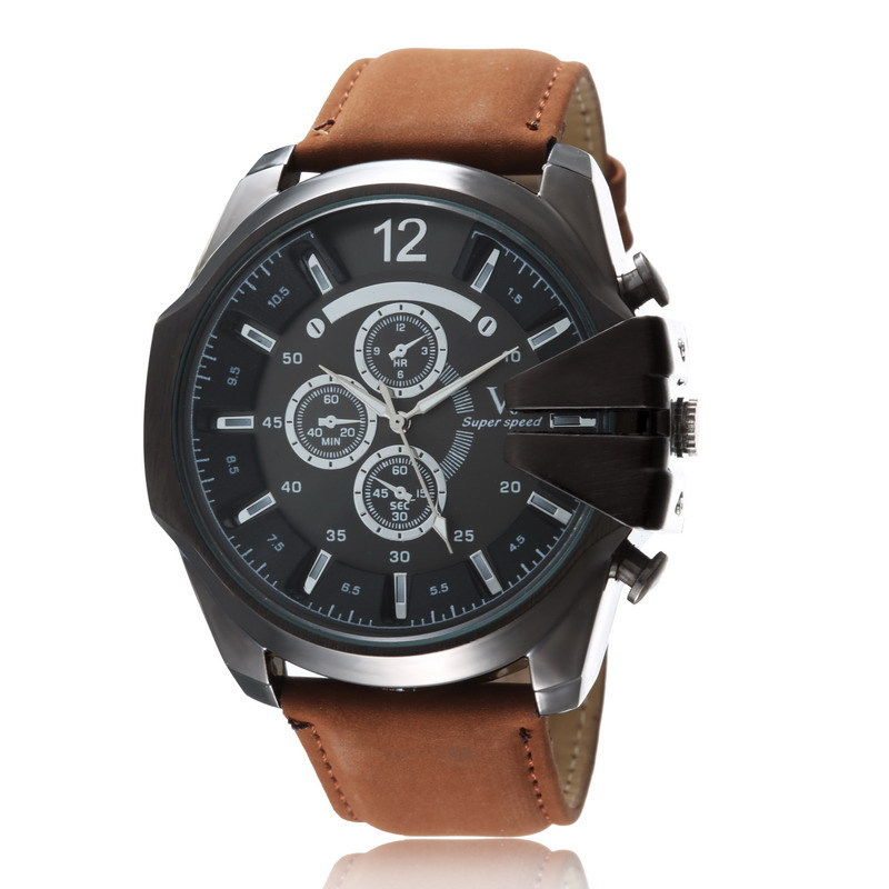 Military Watch Male Luxury Brand Watches Men Leather Watch Small Dials Decoration Sports Quartz Wristwatch relogio masculino