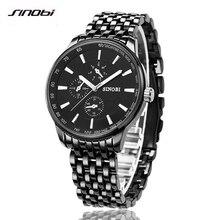 Hombres Reloj de Cuarzo de SINOBI Reloj de la Marca de Lujo Reloj de Los Hombres A Prueba de agua Reloj de Los Hombres relojes de Pulsera Relogio masculino reloj de Moda hombre