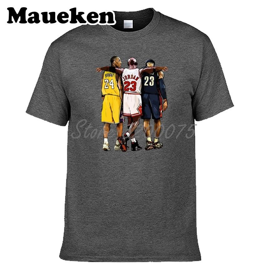 meet 66074 2fdb6 US $18.88 |Men Legend Michael Jordan 23 x Lebron James 23 x Kobe Bryant 24  T shirt Clothes T Shirt Men's tshirt o neck tee W19021101-in T-Shirts from  ...