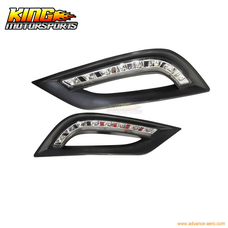 For 2011-2012 Sonata DRL Daytime Runninig Light LED Fog Lights Lamps Type A USA Domestic Free Shipping Hot Selling fit for 02 08 toyota solara camry corolla oe fog light smoke lamps wiring kit included usa domestic free shipping hot selling