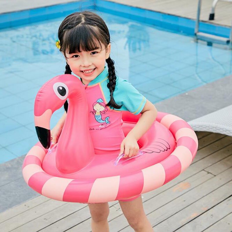 Unicorn Inflatable Circle For Children Summer Toys Flamingo Swimming Pool Baby Floating Row Rainbow Horse Kids Boat Seats