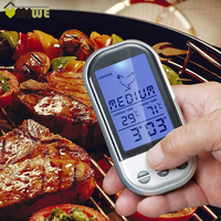 Digital BBQ Thermometer Remote Control Long Range Kitchen Cooking Food Meat Thermometer With Probe And Timer