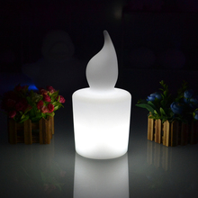 Colors changeable big H28cm LED rechargeable candle light table lamp waterproof with 110/220V adapter and remote controller
