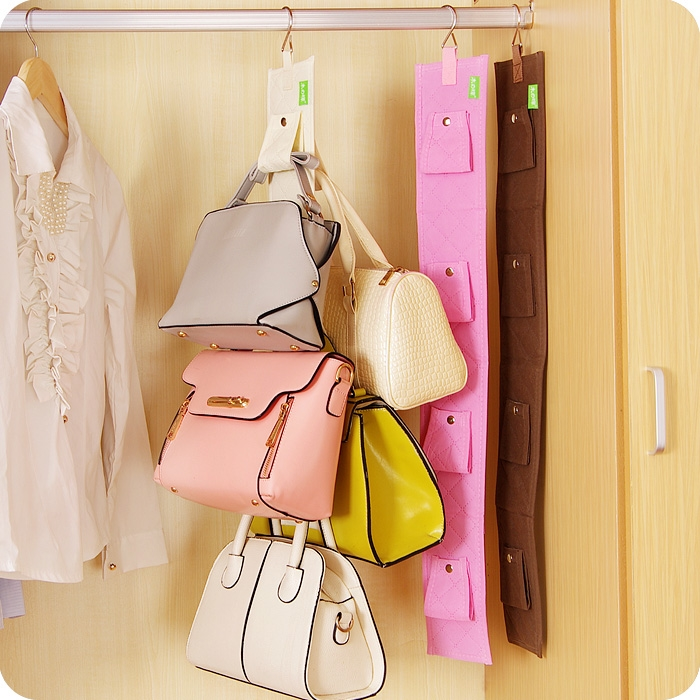 Folding Non Woven Wardrobe Storage Rack Organizer Handbag Hanger Shelf Purse  Holder Bathroom Rear Door Storage Holder Hooks In Storage Holders U0026 Racks  From ...