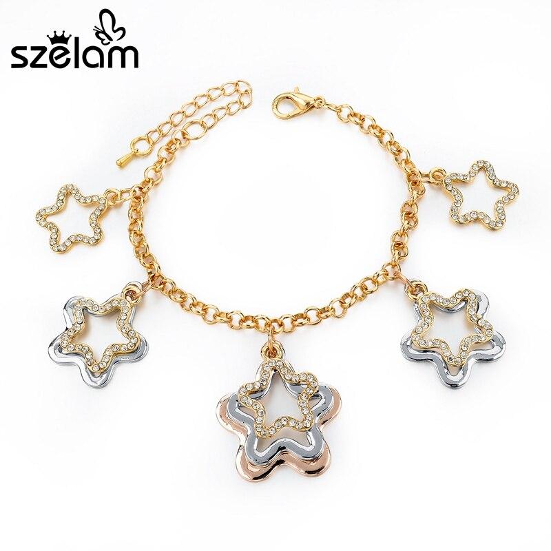 Fashion Fit Pandora Bracelet Szelam Gold Chain Charm Br