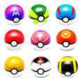 7CM 1Pcs Pokeball   Arpa Trainer Pokeball Love Park Ball Masterball GS Ultra Dive Action Figures Doll Japan Anime