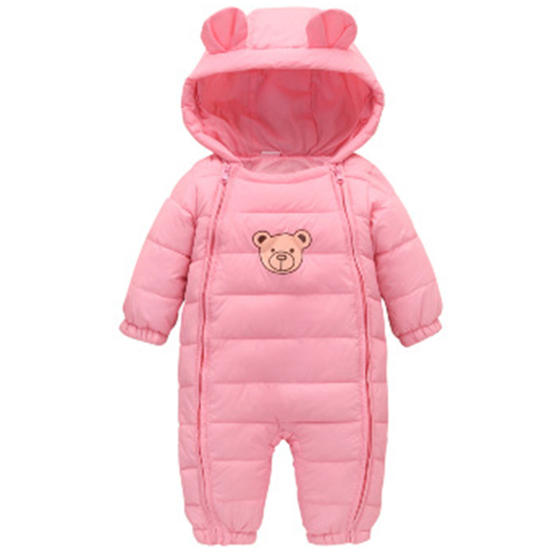 Eafreloy  Newborn Infant Baby Girl Boy Clothes Cute Ear Romper Jumpsuit Solid Romper Cotton Autumn Winter Warm Rompers One Piece newborn baby clothes winter baby boy clothes cotton romper jumpsuit gentleman costume baby rompers infant boy clothes 0 12m