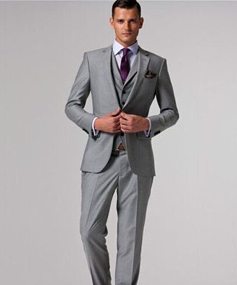 2015 New Arrival Italian Luxury Mens Grey Suits Jacket Pants ...