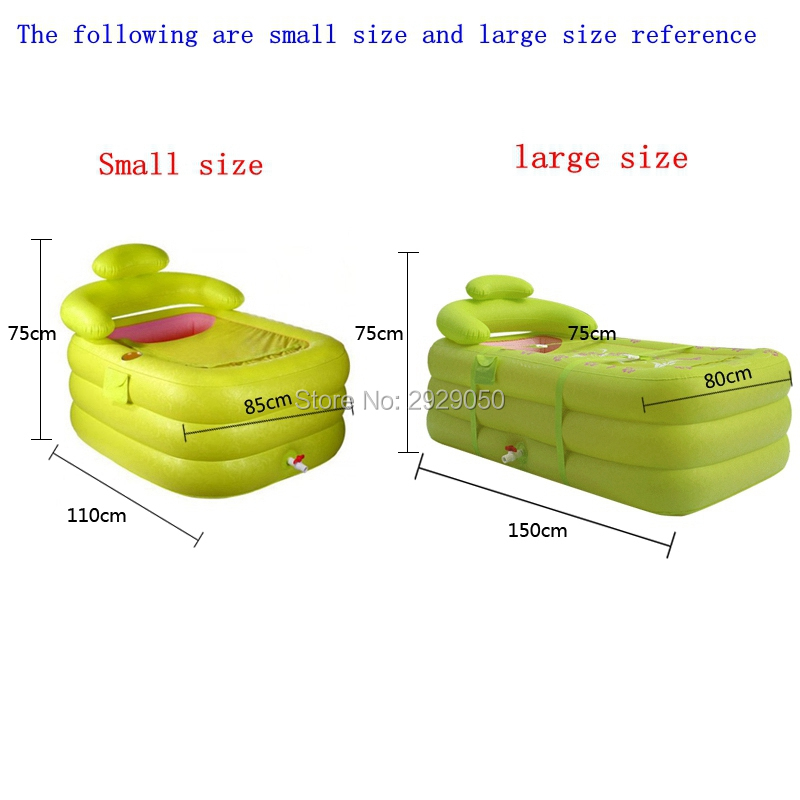 With Pump,Water beauty inflatable bathtub, adult folding double bath, folding thick single bath, plastic bathtub