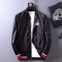 2018 Spring Mens Casual Jackets Brand Design Fashion Autumn Zipper Coats For Boys Black High Quality