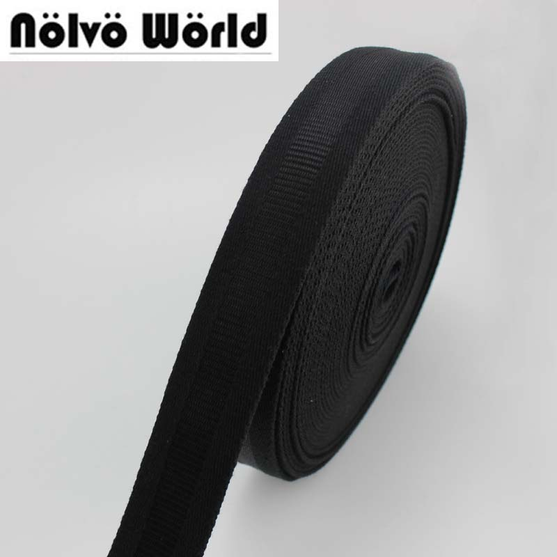 32mm 1-1/4 inch wide 1.9mm thick 100% COTTON canvas webbing tape Black shoulder bag handle sewing webbing straps метчики 1 4 32