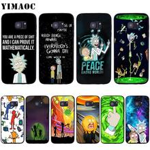 YIMAOC Rick And Morty Soft Silicone Case for Samsun