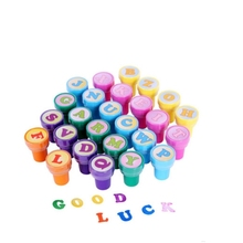 26pcs Children Toy Stamps cartoon English letter seals do not need ink pad printing ink digital stationery color children seal
