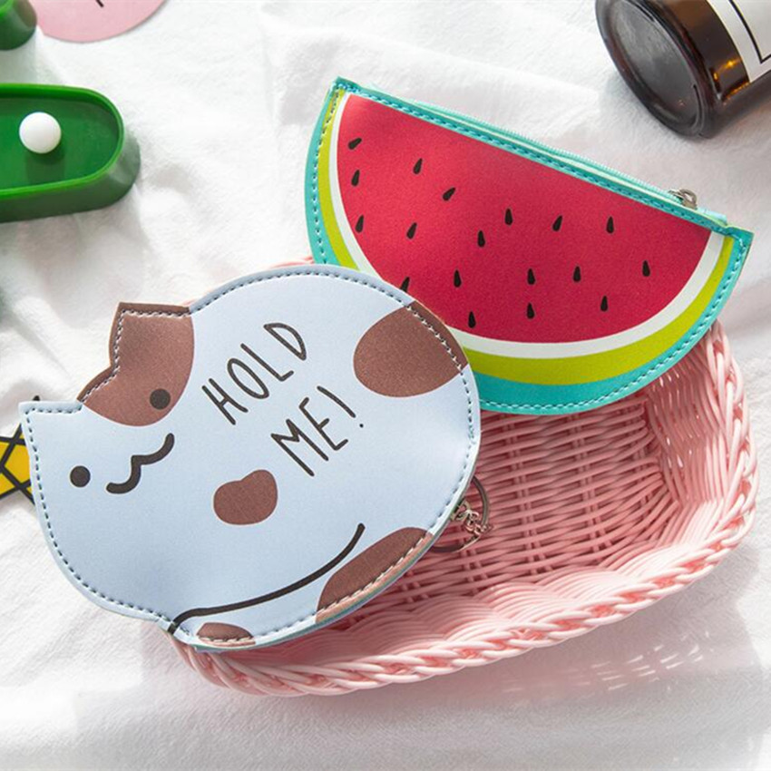 M007 Creative Women Coin Purses Cute Cats Bears Fruits Carrots A small Coin Bag Key Buckle Many Styles For You To Choose From temptations mixups surfers delight flavor treats for cats pouch mega bag