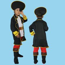 Kids Boys Pirate Costume Cosplay Jewelry set Halloween Costumes for Children New Year Purim For Kids Children Christmas(China)