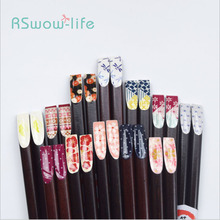Creative Portable Cherry Blossom Nail Chopsticks Household Environmental Protection Bamboo For Kitchen Tableware