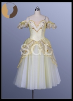 Free Shipping Classical Long Ballet Tutu Dress For Sale Gold Color Offer Custom Service 6 Layers
