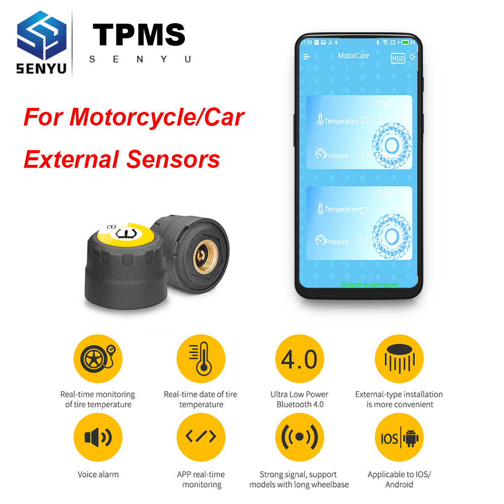Tire-Pressure-Sensor Monitoring-System Tmps Tpms Motorcycle Android Auto Car for IOS title=