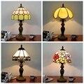 Настольная лампа Tiffany витражное стекло европейский стиль барокко классика для гостиной E27 110-240 В