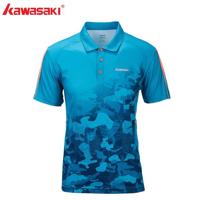 sehen verschiedene Farben bis zu 60% sparen US $21.35 11% OFF|Kawasaki Sportswear 100% Polyester Badminton Sports Men  Shirt PoloShirt Breathable Sweat Quick Drying T shirts For Men ST T1027-in  ...
