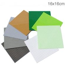New Version Small Blocks Building DIY Baseplate 20*20 Dots Size 16*16 cm Base plate Compatible legoINGlys Bricks Toys