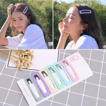 Drop Oil BB Clip Korea New Geometric Style Candy Color blue pink purple 6 Pieces A Lot Hairpins for Women