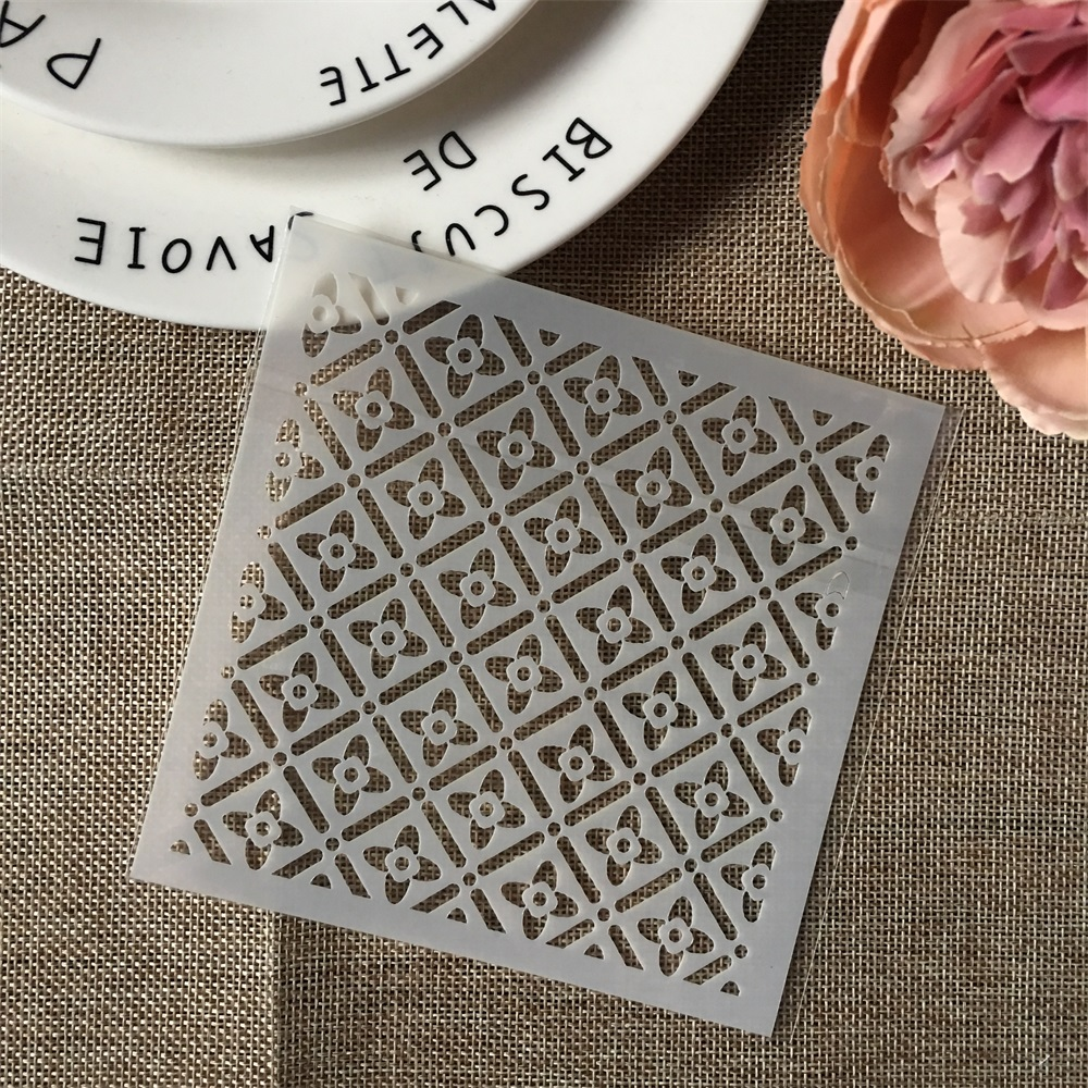 Hot 13*13cm Clover Flower DIY Layering Stencils Wall Painting Scrapbook Coloring Embossing Album Decorative Template