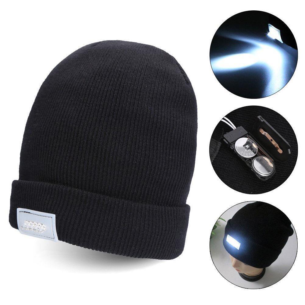 5 LED Light Hat Warm Winter Beanies Gorro Club Party Black Unisex Lighted  Cap Knitting Hats High Quality Hat 6788cbfb62e4
