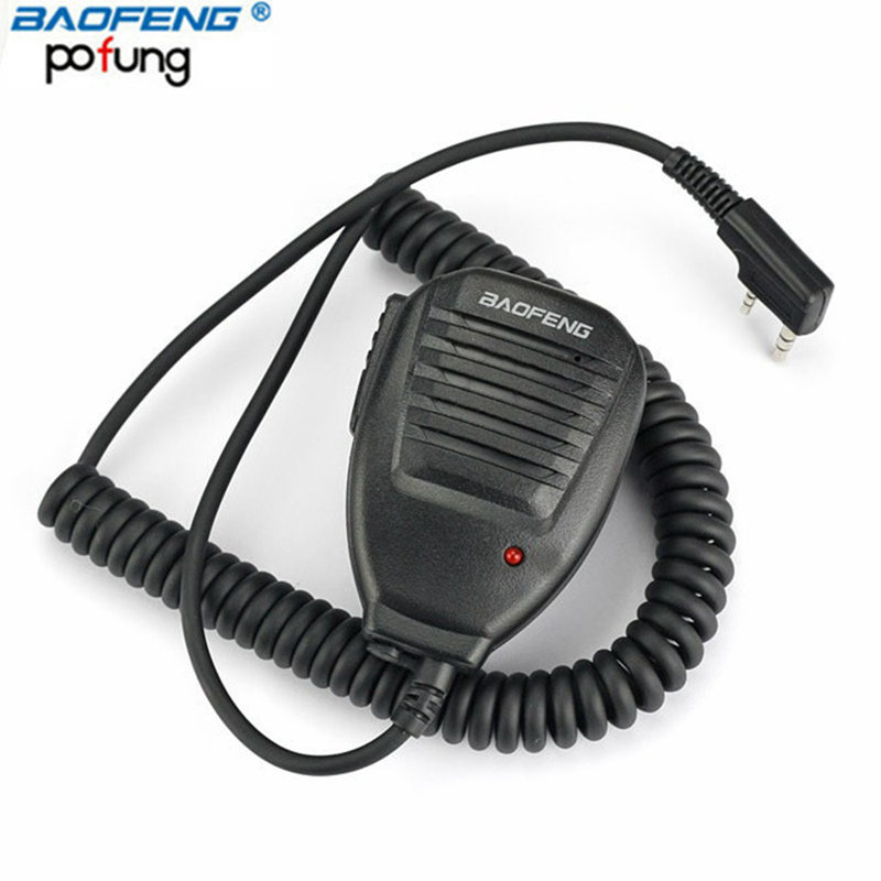 Baofeng PTT Speaker Mic Handheld Microphone For Kenwood Baofeng UV-5R BF-888S UV-82 Portable CB Radio Walkie Talkie Accessories