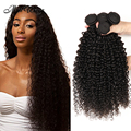 Peruvian Human Hair Kinky Curly 4 Bundles Peruvian Curly Virgin Hair Weave Human Hair Extensions 100% Unprocessed Peruvian Hair