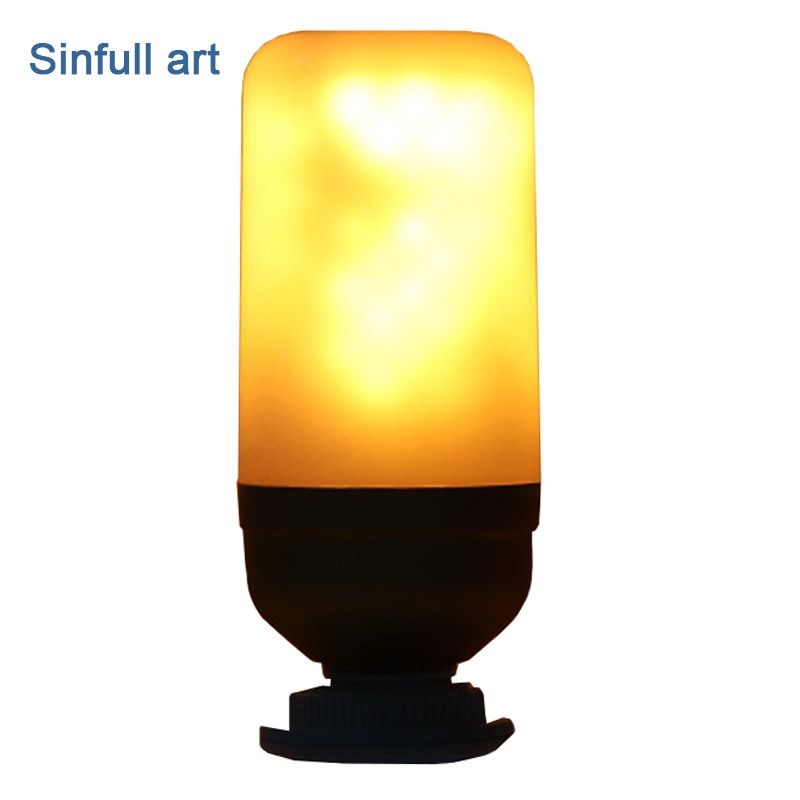 SINFULL ART E27 flame light bulb 220V Flame Effect led lamp Simulation Fire Flicker effect Lighting 3W Decoration led corn bulbs lan mu 220v flame fire light led bulb