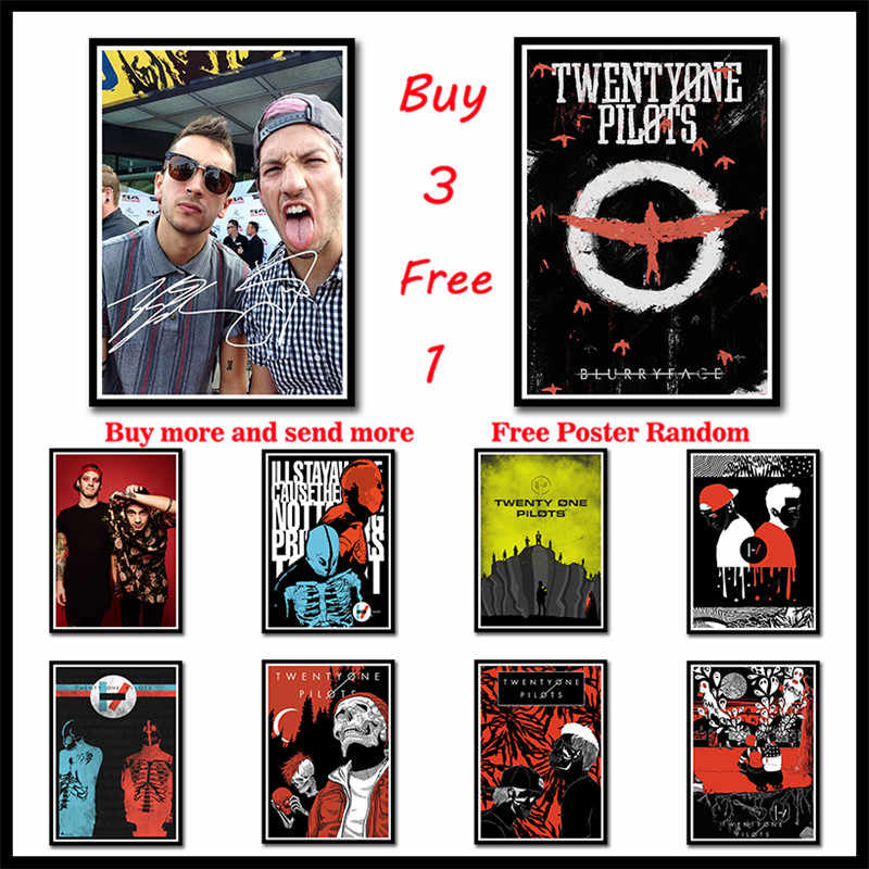 Twenty One Pilots rock band music Coated Paper Posters Home Decoration Good Quality Prints White home art  Frameless