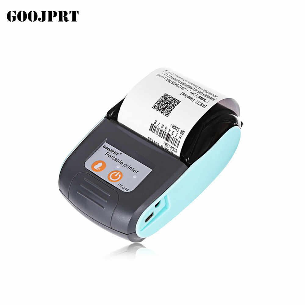 GOOJPRT беспроводной портативный термопринтер Мини 58 мм кассовый usb-принтер чековый принтер для ресторана и супермаркета E-shops EU US UK PLUG