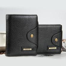 Mode Männer Brieftaschen Haspe Kreuz vertikale Brieftasche Münzfach Qualität PU Leder Schwarz Braun Kartenhalter Geldbörse Kostenloser Versand
