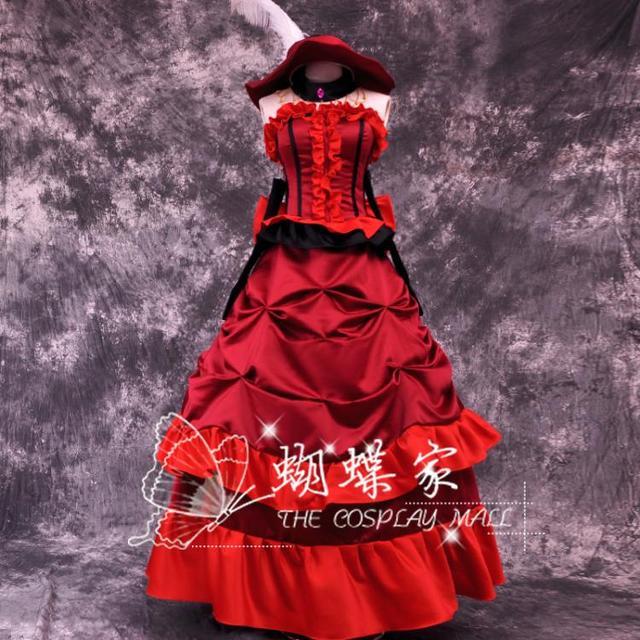 送料無料アニメ黒執事死死神グレル·サトクリフコスプレ赤ドレスカーニバルハロウィン衣装
