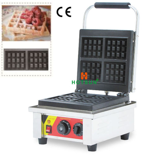 Free Shipping Commercial Non-stick Electric 4pcs Belgian Liege Waffle Maker Iron Machine 110v 220v electric belgian liege waffle baker maker machine iron