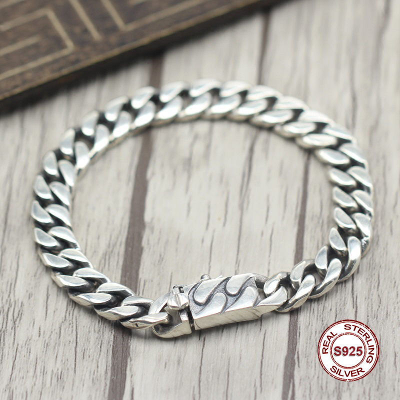 2017 s925 sterling silver new bracelet Simple and generous popular Retro braided bracelet Classic style Send a gift to love
