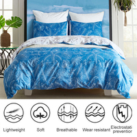 bfd8dc6d66 ... Fronha Respirável Macio. Leaf Duvet Cover Set Microfiber Fabric Pillow  Cover With Quilt Cover Pillowcase Soft Breathable Bed Cover