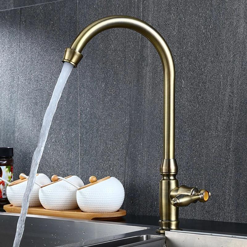 a1 european retro classic rustic style bronze painted kitchen faucet basin single cold faucet lo4117