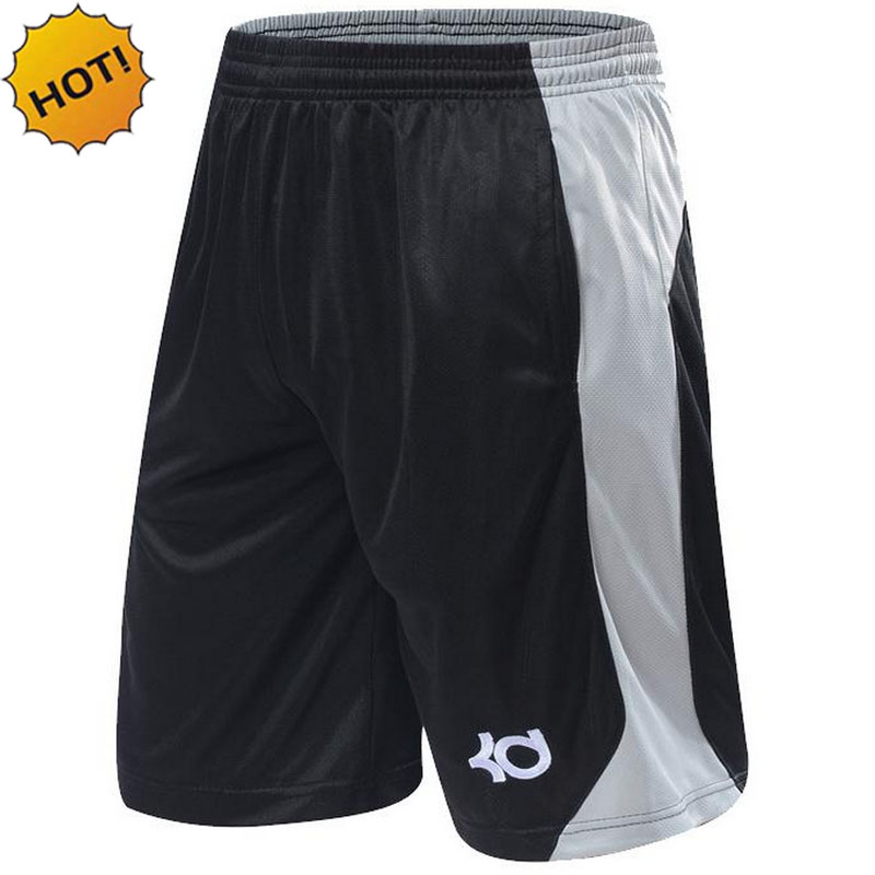 NEW 2017 Brand KD Ball Game Shorts Knee Length bermuda short Trousers Fitness Elastic Loose Pocket
