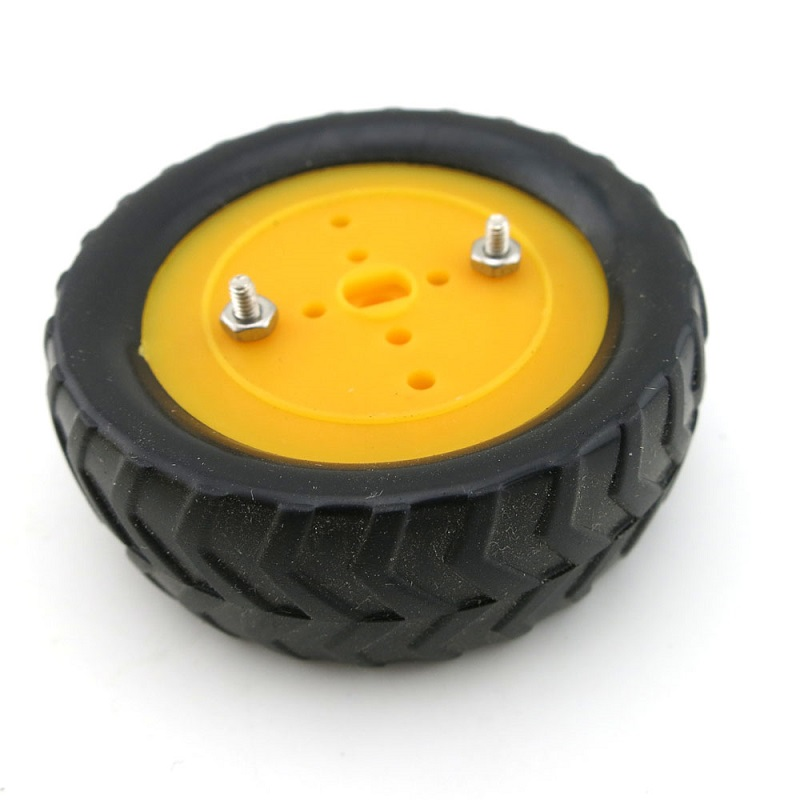 10PCS 50mm Rubber Tire Skin DIY Toys Mini Wheels Tyre with 2.9mm Hole Diameter for RC Four Wheel Drice Car Replacement Tools