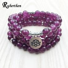 Ruberthen 2017 Fashion Claret Stone Bracelet High Quality Women`s Yogi Necklace 4 Wrap Meditation Jewelry Free Shipping