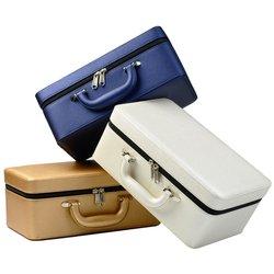 Fanxi Hoge Kwaliteit Lederen Sieraden Doos Draagbare Reizen Sieraden Geval Ring Ketting Organisator Opslag Sieraden Houder 3 Lagen