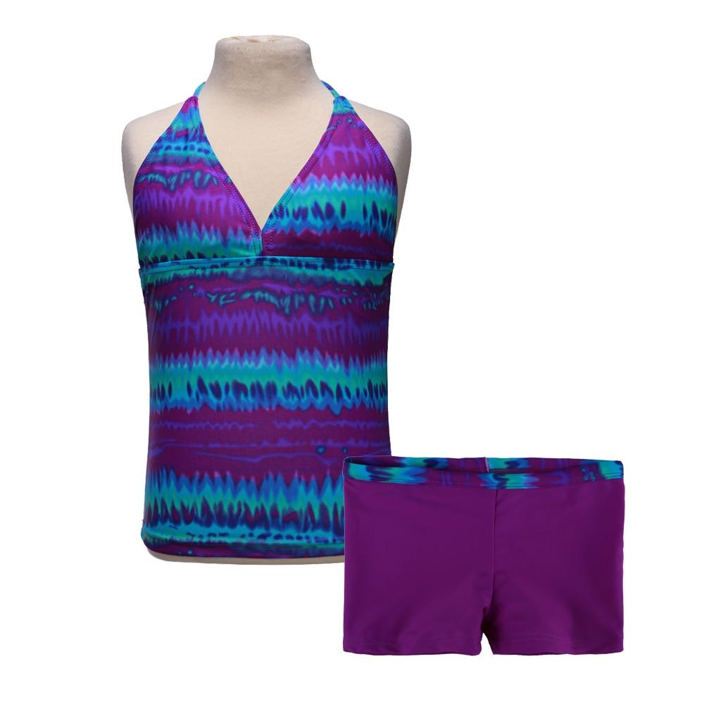 2018 2szt dziewcząt 6 kolorów strój kąpielowy bikini strój - Kostiumy - Zdjęcie 3