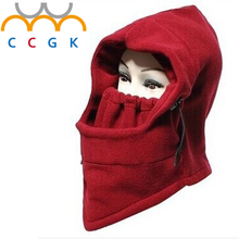Men and women Masked cap Headgear mask Double thick windproof face protection Warm anti-cold outdoor Riding sports Winter Skiing