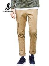 0fd600a27d009 Pioneer Kamp erkek kargo pantolon marka giyim Yeni varış düz günlük  pantolon erkek en kaliteli Koyu gri Haki AXX705115