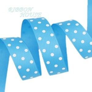 Image 4 - (10 yards/lot) Cartoon Polka Dots Printed Grosgrain Ribbon Lovely Series Ribbons Wholesale (22/38mm)