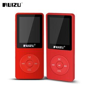 Image 2 - مشغل أصلي RUIZU X02 MP3 مع تخزين 8 جيجابايت شاشة 1.8 بوصة صغيرة محمولة رياضية Mp3 دعم راديو FM ، كتاب إلكتروني ، ساعة ، مسجل