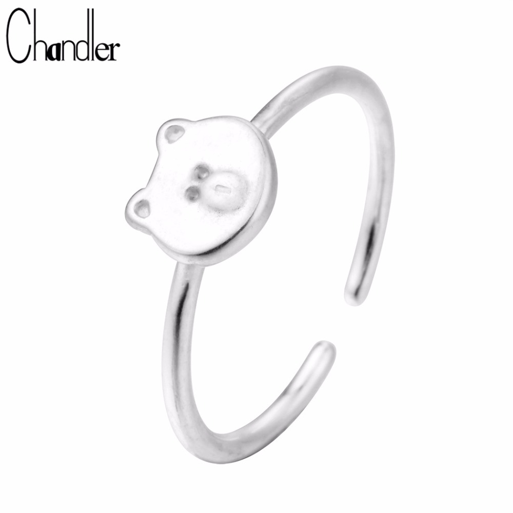 1PC Brushed Alloy Cat Kitty Wrap Ring Band Open Adjustable Men Women Jewelry